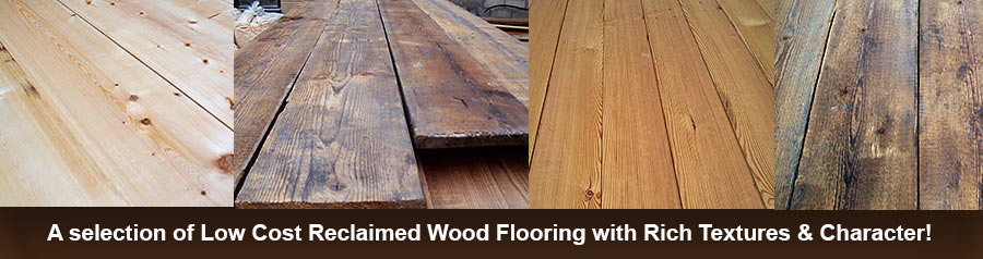 A Selection of Reclaimed Wood Flooring with Rich Textures & Character